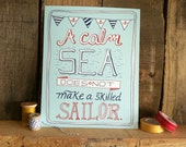 Skilled Sailor- Nautical Art Print 5x7, 8x10, 11x14