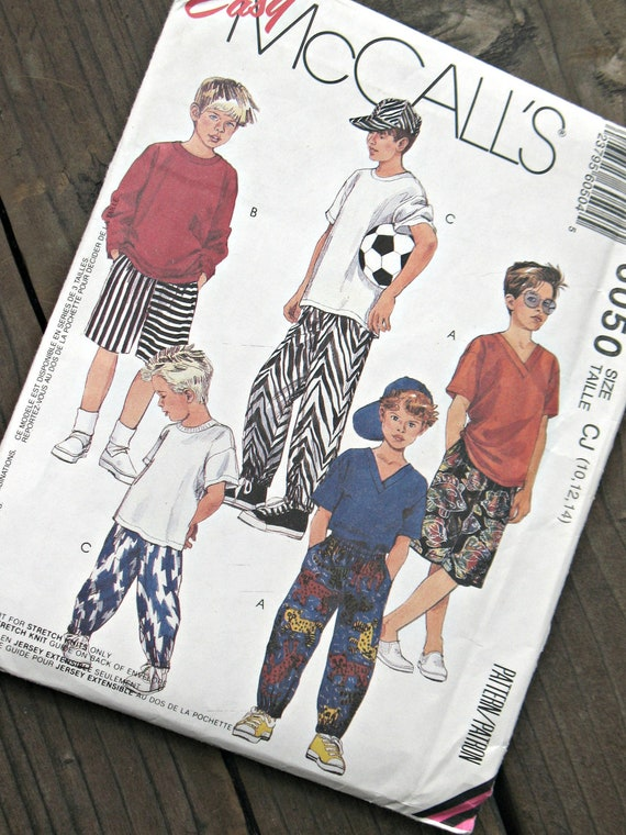 McCall's 6050 Boys Shirt, T-Shirt, Pants, and Shorts, With Hat