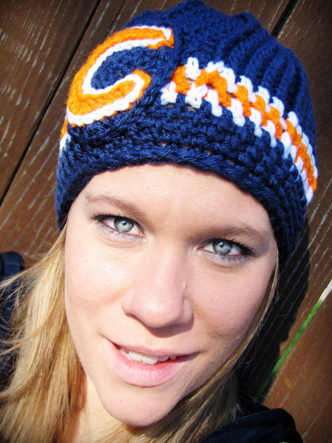 Chicago Bears Crochet Hat by YellowTrunkDesigns on Etsy