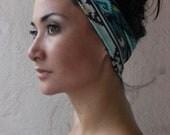 Turban Twist HeadBand- Navajo shapes