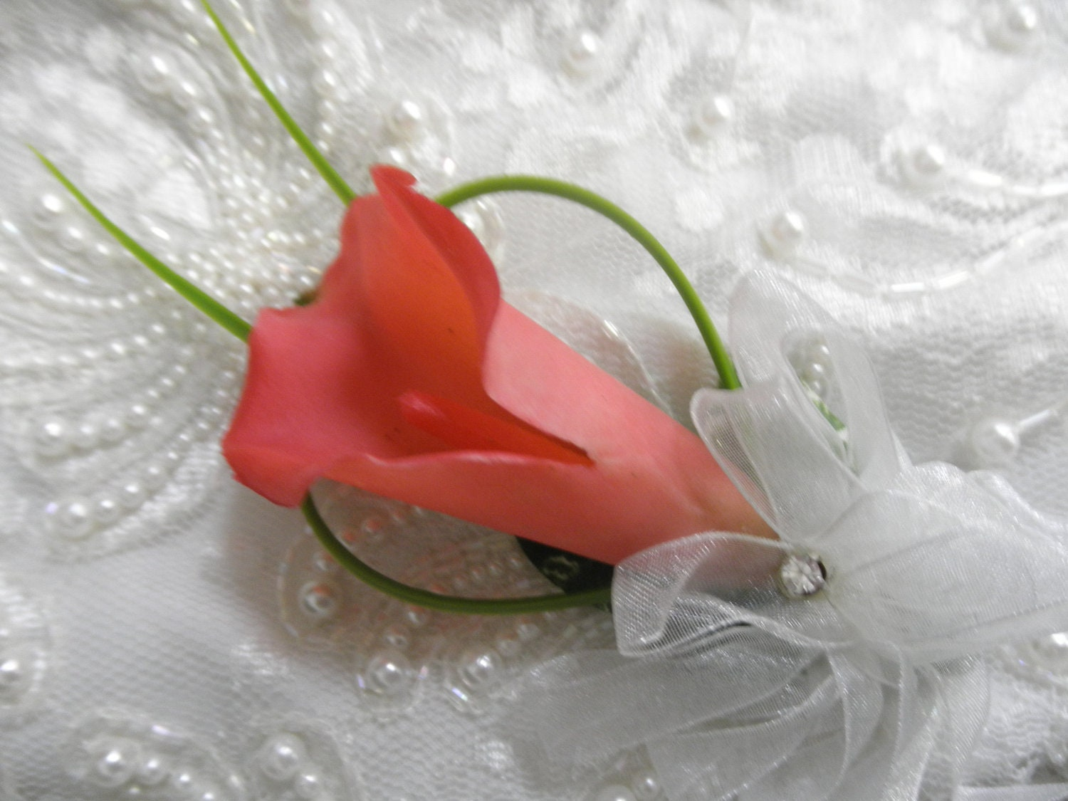 Set of wedding corsages fuschia hot pink calla lily bear zoom dhlflorist Gallery
