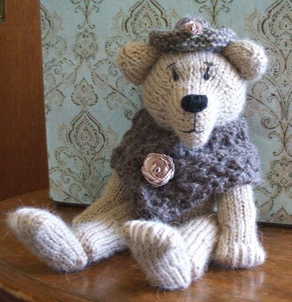 Knitted Bear Hat Pattern : Knitted Bear Hat & Shawl Pattern BUY2Patterns GET1FREE