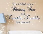 Wall Decal Nursery Saying Baby Boy Girl Vinyl Lettering Rhyme Twinkle Twinkle Decals