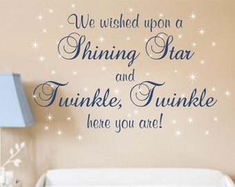 Wall Decal Nursery Saying Baby Boy Decals Saying For Girls Wall Decal Nursery Wall  Lettering Nursery Rhyme Twinkle Twinkle Decals