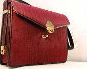 Delicato Vintage Red Handbag Total Brand