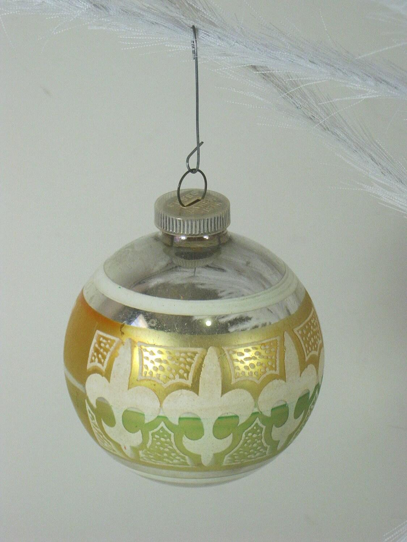 Vintage mercury glass ornaments fleur de by