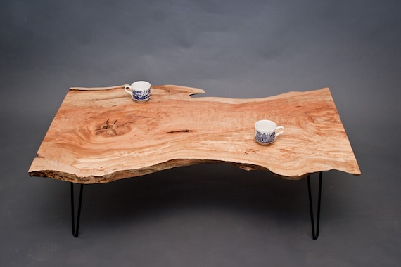 CALVIN - Maple COFFEE TABLE - Reclaimed - Live Edge/Natural/Unique - CALVIN Maple COFFEE TABLE Reclaimed Live