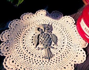 Vintage Metal Owl Pendant