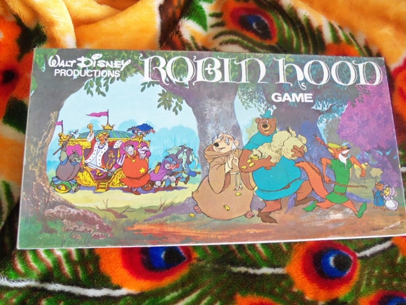 1973 Robin Hood Game Walt Disney Productions Collectible 1970's Toy Disneyana