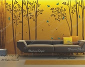 Tree wall decal nursery decal children wall sticker baby decal bedroom - Birds in the Forest