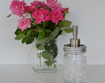 Mason Jar Soap Dispenser Clear Mason Jar Jumbo Brand Peanut Butter Jar Soap Dispenser