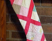 Primitive Christmas Stocking Patchwork Country Cottage Prim Folk Art Shabby Cutter Quilt itsyourcountry