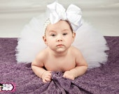 Baby Girl Tutu, White Tutu, Birthday Tutu, Tutu, White, Toddler Tutu, Baby Tutu, Newborn Tutu,  Photo Prop, Flower Girl Tutu,  Christening