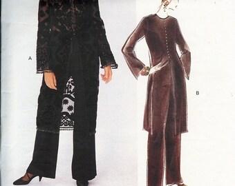 UNCUT Vogue Attitudes BADGLEY MISCHKA Pattern 1282 - Misses/Misses Petite Tunic & Pants - 8-12