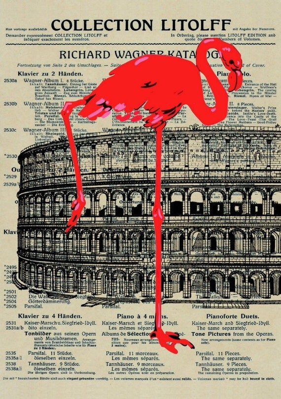 MUSIC retro 44  giclee print poster mixed media painting illustration drawing wall decor rom roma