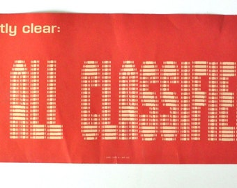 Vintage '70's Cold War Defense Department Classified Material Poster