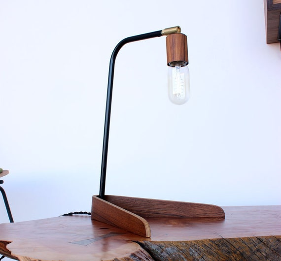 Desk Light Socket: Bent Plywood Desk Lamp With Teak Veneered Socket By