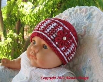 Knitting Pattern 016 - Knitting Hat Pattern - Hat Knitting Pattern - Knitting Hat - Baby Boy Baby Girl Toddler Child Girl Boy Red Beanie