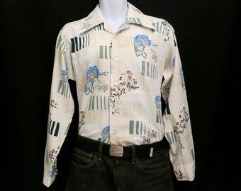 Butterfly Collar Mens Shirt, Medium