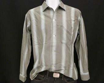 SALE: Mens Green Rockabilly Shirt, Medium by Arrow (WAS 75 DOLLARS)