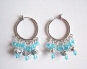 Aqua Earrings - Aqua Crystal Earrings - Aqua Crystal Chandelier Earrings - Crystal Chandelier Earrings