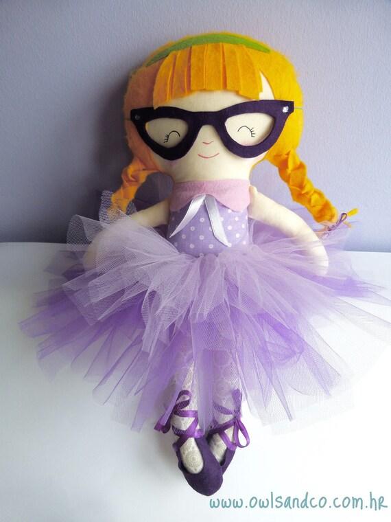 Handmade fabric doll,  Little Miss G.
