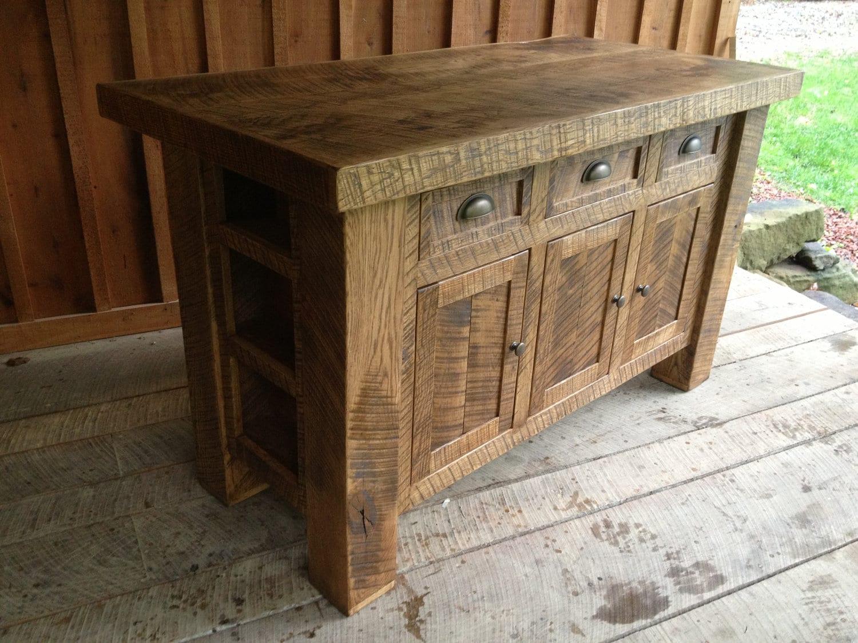 aged oak kitchen island ready to ship
