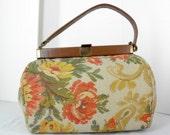 Vintage 1960s Jana Brand Floral Needlepoint Handbag