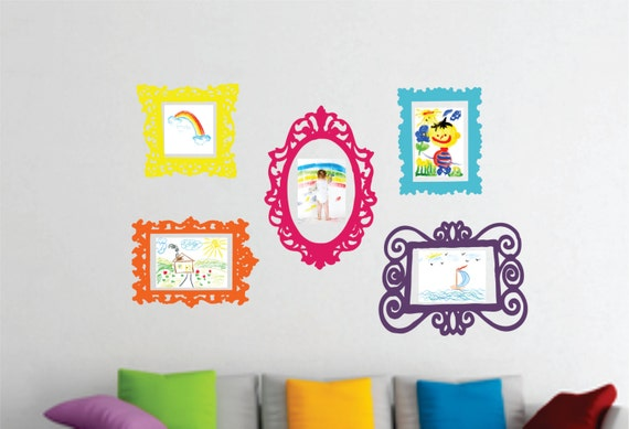 Wall Decal Set Of 5 Frames Playroom Decor Bedroom Wall
