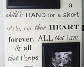 PARENT(S) of Bride Groom 13x22 Wedding Frame Gift for Parents Mom Dad Grandparent
