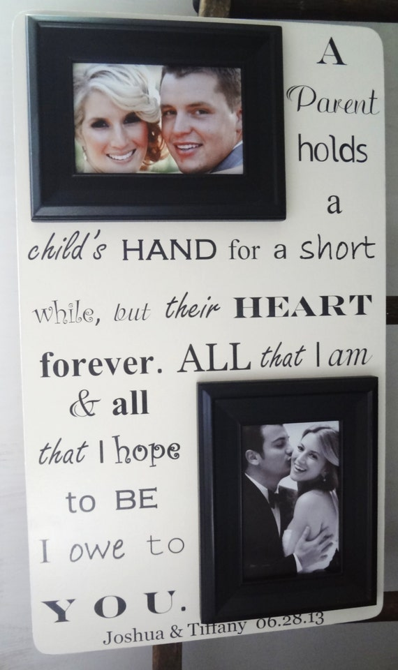 Wedding Gifts For Brides Parents : PARENT(S) of Bride Groom 13x22 Wedding Frame Gift for Parents Mom Dad ...