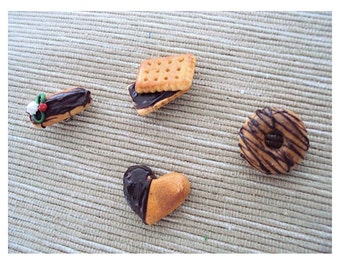 Chocolate Fantasy Polymer clay Miniature food Magnet