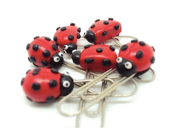Miniature Lady Bugs Paperclips