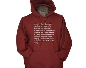 Zombie hoodies Definition of the Walking Dead Hoodie for men geekery sweatshirt for men women and teens and kids sizes S – 3XL