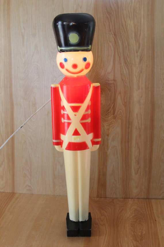 vinatge light up blow mold toy soldier christmas decor