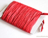 Red Raffia Ribbon - 30/100 yards - 1/4 inch wide