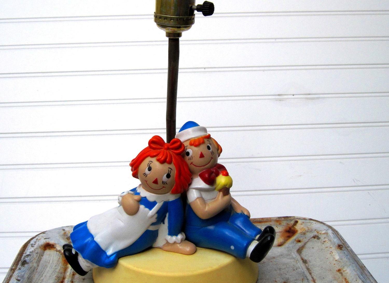 Raggedy Ann And Andy Nursery Lamp