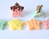 Star Cookie Ring-Pick One-Ready To Ship