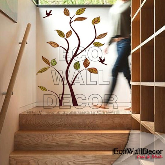 Peel and stick removable vinyl wall sticker mural by for Vinyl peel and stick wallpaper