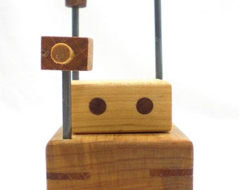 Wood Robot Toy Rover
