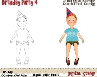 Digital Stamp Birthday Party 4 DIGITAL DOWNLOAD