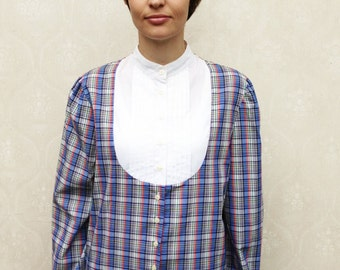 """Vintage yoke top, small medium large - tartan . . . """"Like"""" our fb page for 10% discount"""