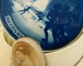 "Vintage TWO TIN CANS ""Keepsake 1978""  & 1985  ""Two Sleepy-heads"" by Balliol Corp."