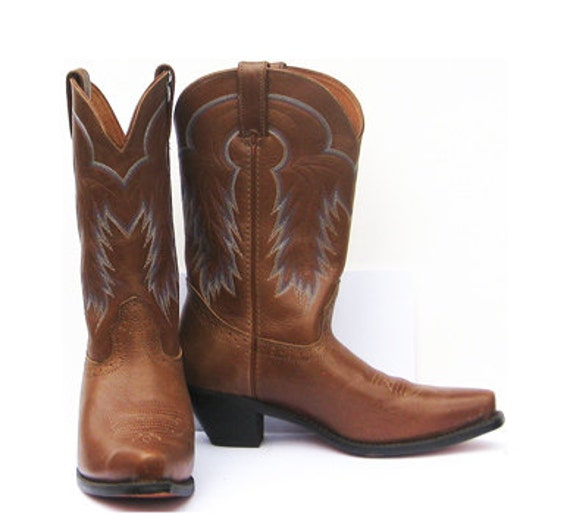 cowboy boots vintage western boots light almond by