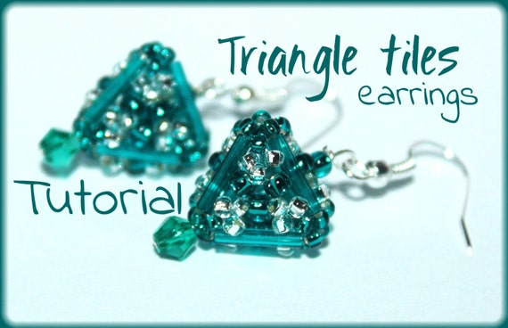 Triangle tile beading pattern tutorial PDF beading instructions seed bead earrings
