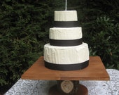 "Rustic Wedding Cake Stand Personalized 18"" Square"