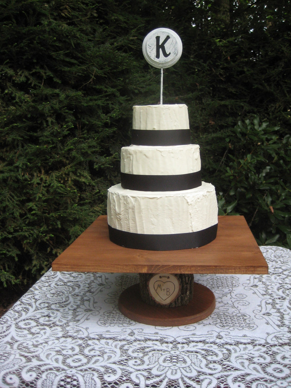 Rustic Cake Stand Log Cake Stand Square Cake Stand Wood