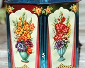 Vintage Painted Murray Allen Candy Tin Box
