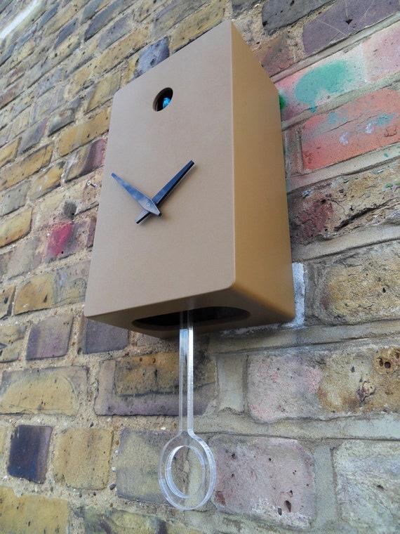 Brown quartz cuckoo clock with pendulum - Coo coo clock pendulum ...