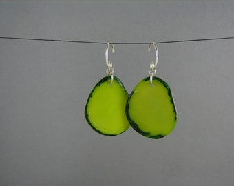 GREEN Tagua Earrings ECO FRIENDLY ReCycled Jewelry